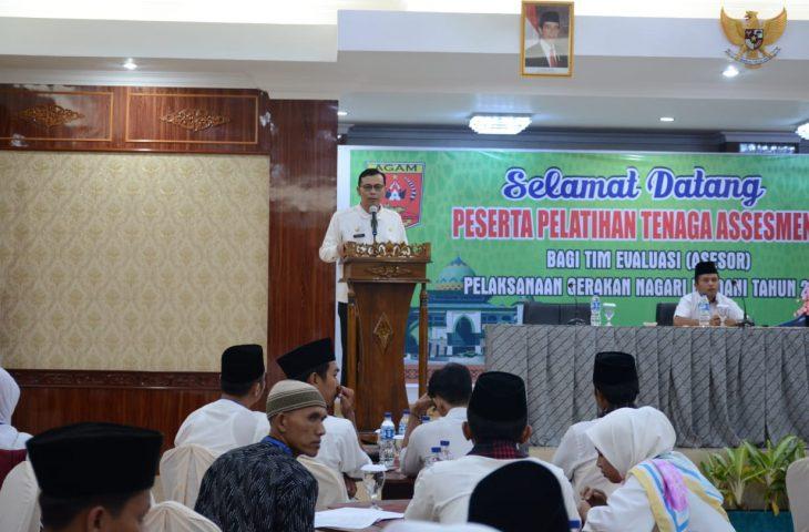 Bupati Agam Buka Pelatihan Asesor Gerakan Nagari Madani