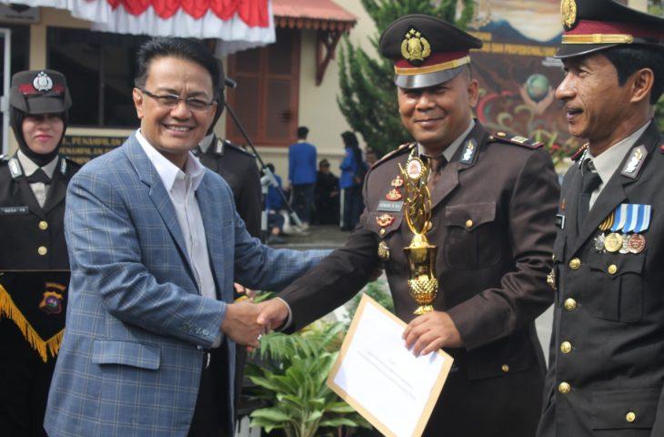 Bupati Agam Hadiri HUT Bhayangkara ke-72 di Polres Bukittinggi