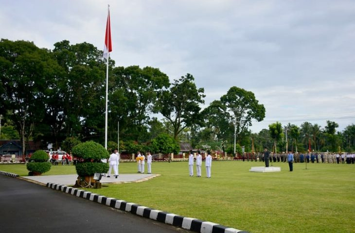 Upacara HUT ke-25 Ibukota Agam dan 110 Tahun Perang Manggopoh Semarak