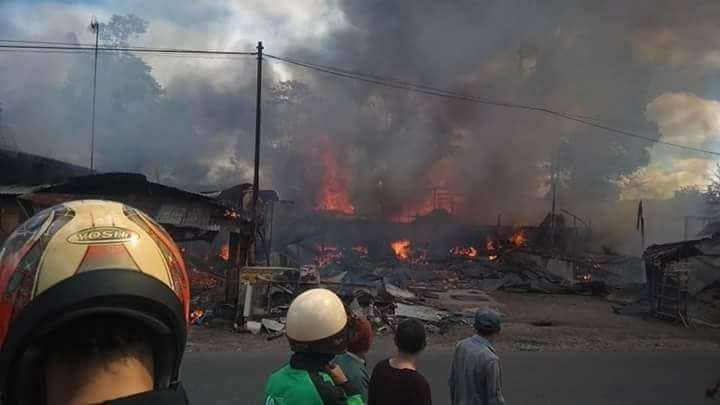 Kebakaran Hebat di Ampang Gadang, 19 Bangunan Hangus