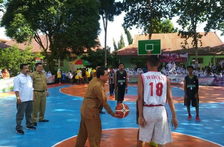 SMAN 2 Lubuk Basung Gelar Open Turnamen Basket Ball ke-9 Tingkat Sumbar