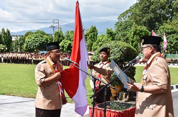 Indra Catri Jabat Kamabicab Gerakan Pramuka Agam Periode 2018-2023