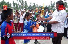 SDN 41 Sangkir Juara Umum Sepak Bola Mini