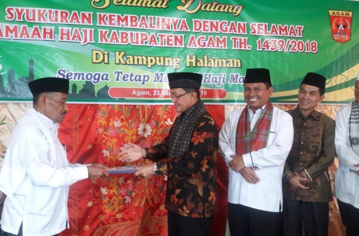 Bupati Silaturrahmi Dengan Jamaah Haji Agam