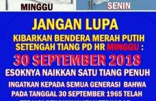 Waspadai Bahaya Laten PKI, Bupati Agam Himbau Warga Kibarkan Bendera Setengah Tiang