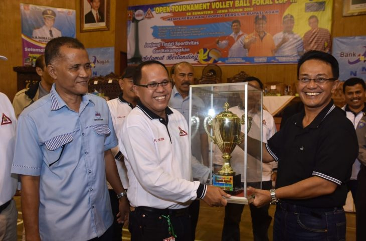 Bupati Agam Buka Open Turnamen Vollyball Fokal Cup III 2018