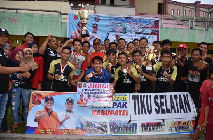 Tiku Selatan Juara Umum Liga Nagari Kabupaten Agam