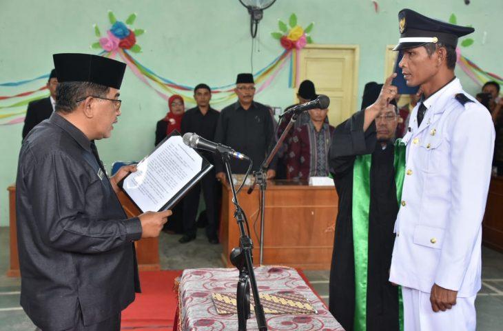 Lantik Walinagari Bukik Batabuah, Rahman : Walinagari Harus Miliki Visi dan Misi yang Jelas