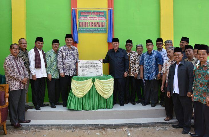 Hadiri Peresmian Masjid Ponpes, Wabup : Ini Mendorong Pembangunan Agam Madani