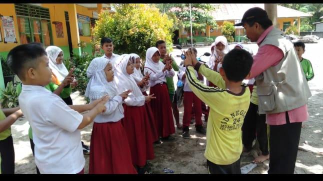 Kunjungi SDN Muaro Putuih, BPBD Agam Berikan Pelatihan Evakuasi Mandiri
