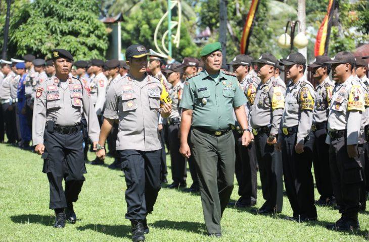 TNI/Polri dan Pemkab Agam Gelar Apel Siaga Pengamanan Pemilu