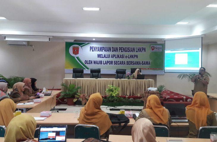 Pemkab Agam Gelar Pelatihan e-LHKPN Bagi OPD