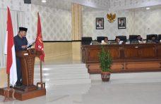 Rapat Paripurna DPRD Agam, Komisi I Sampaikan Ranperda Trantibum