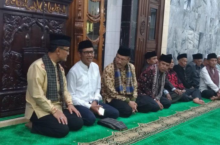 Gubernur dan Bupati Bersilaturrahmi di Mesjid As Sa'adah Nagari Panampuang Kecamatan Ampek Angkek