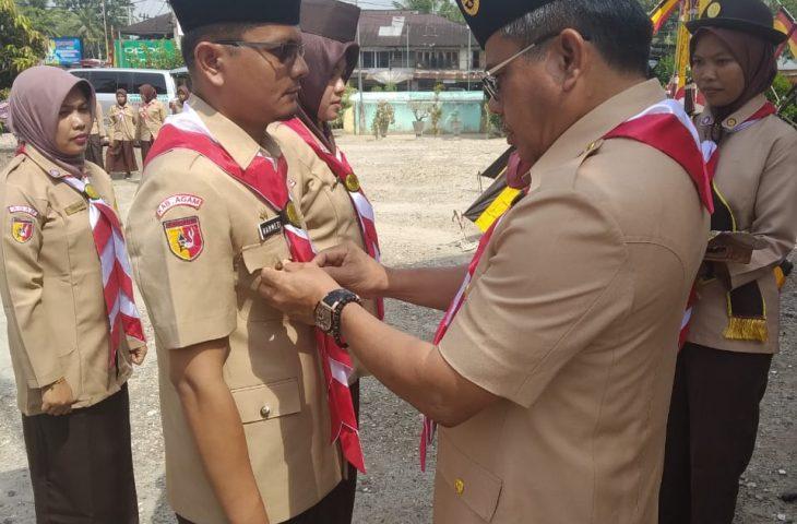 Ketua Kwarcab Agam Lantik Pengurus Mabiran dan Kwarran Gerakan Pramuka Lubuk Basung