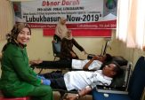 Aksi Donor Darah IWO-Fokal Lubuk Basung Sukses, Pemkab Agam Apresiasi
