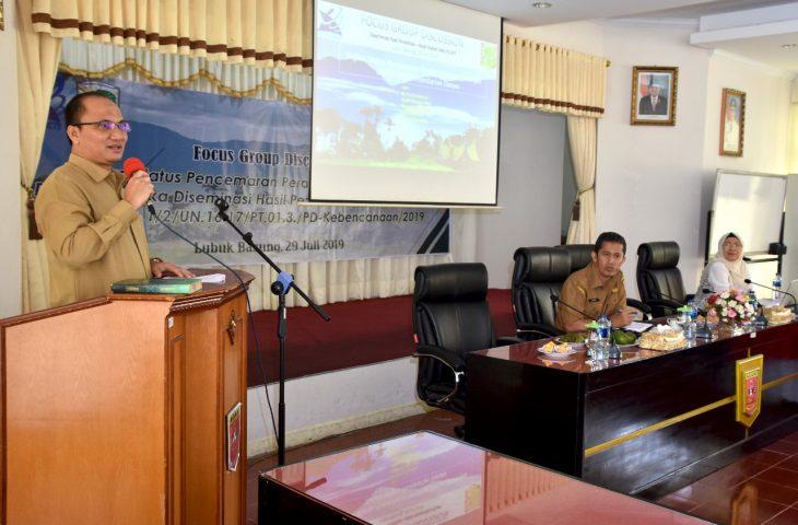 Wabup Agam Buka FGD Hasil Penelitian Status Pencemaran Danau Maninjau
