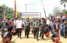 Tim Wasev TMMD ke-105 Kunjungi Nagari Sungai Pua, Masyarakat Antusias