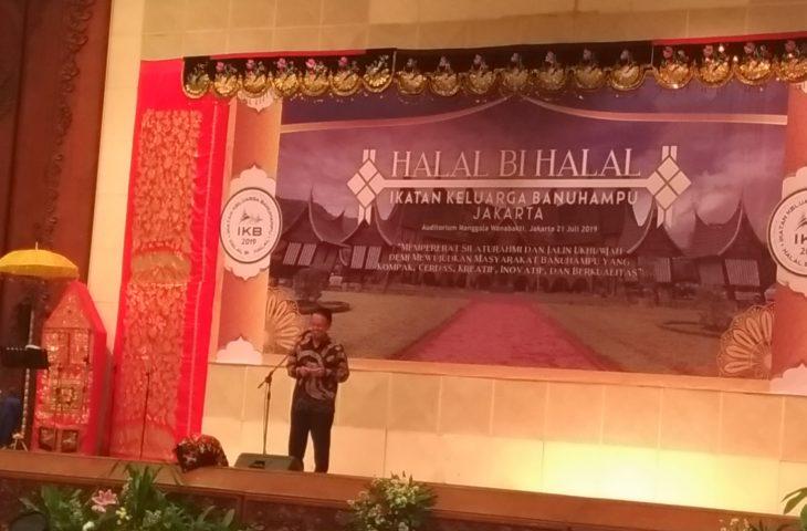 Hadiri Halal Bi Halal Ikatan Keluarga Banuhampu, Indra Catri : Tetaplah Jadi Contoh.