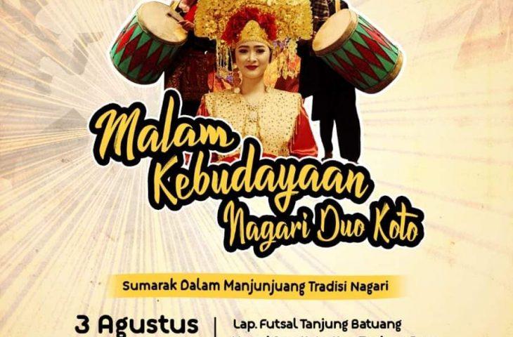 Nagari Duo Koto Gelar Festival Malam Kebudayaan