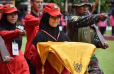 Diva Raulia Putri, Pembawa Baki Bendera Pusaka di Agam