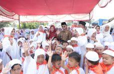 Kenalkan Ibadah Sejak Dini, 1.200 Murid PAUD se-Kecamatan Lubuk Basung Ikut Manasik Haji