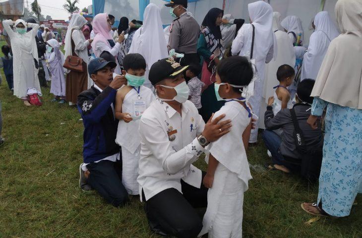 Matur Peduli, Anak PAUD Dibekali Masker Saat Manasik Haji