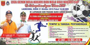 Sore Ini, Pemkab Agam Launching Bola Voli Nagari Cup dan Liga Nagari