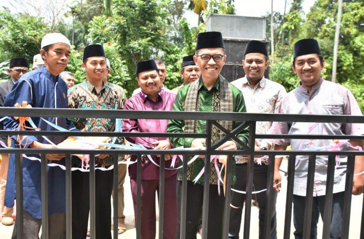 Bantuan Orang Tua Santri, Rumah Tahfizh Tabarak Lubuk Basung Berdiri Megah