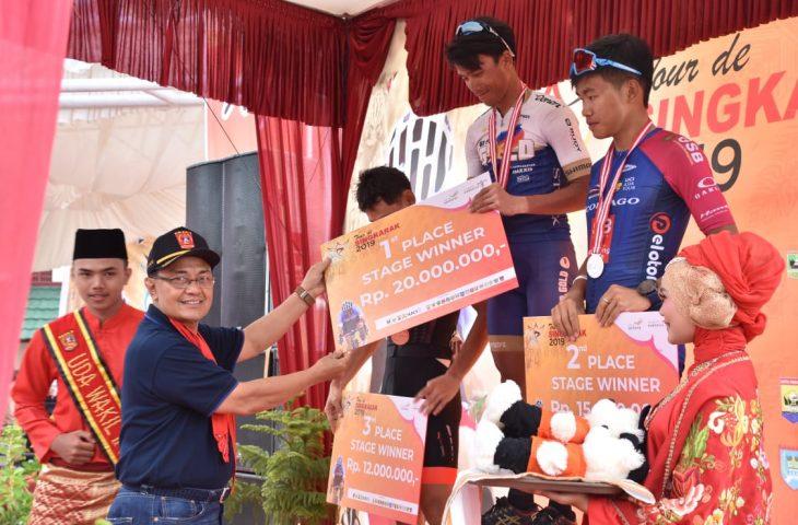Jonel Carcueva Tercepat di Etape V, Pebalap Indonesia Finish Posisi Tiga