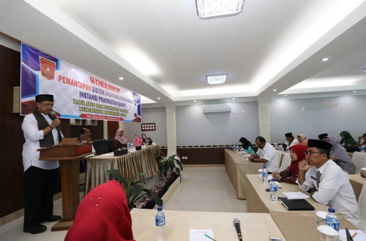 Tingkatkan Kinerja, Pemkab Agam Gelar Workshop Pemantapan Evaluasi SAKIP