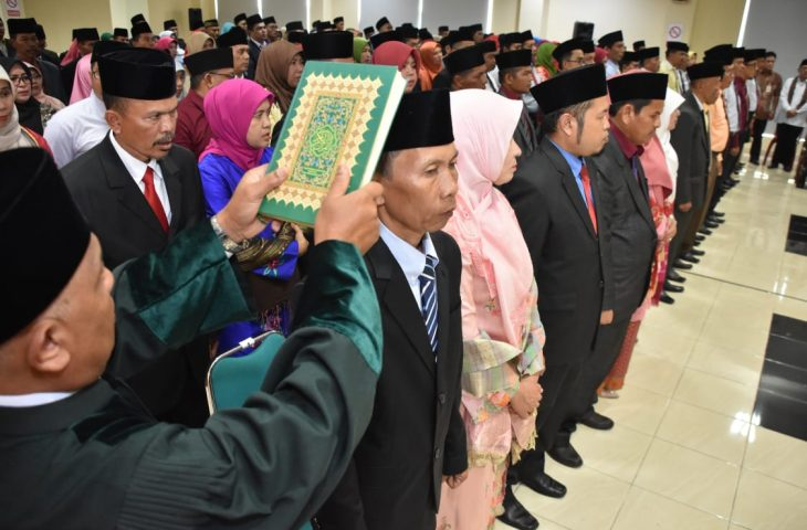 Awal 2020, Indra Catri Lantik 166 Pejabat Struktural