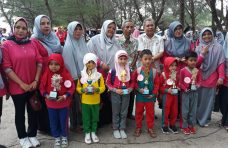 200 Murid TK di Kecamatan Lubuk Basung Ikuti Lomba Lari Estafet