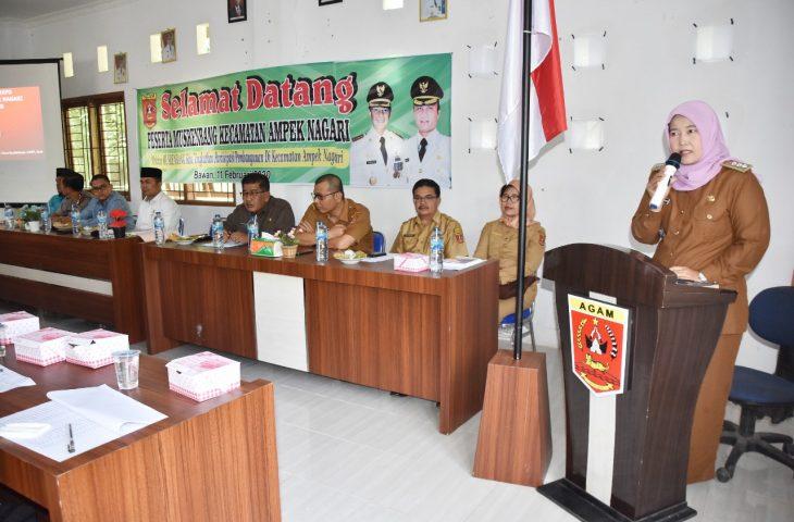 Musrenbang Kecamatan, Camat Ampek Nagari Paparkan Prioritas Pembangunan 2021