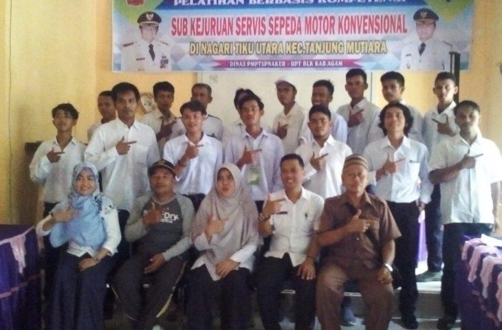 DPMPTSP-Naker Agam Gelar Pelatihan Berbasis Kompetensi di Tiku Utara
