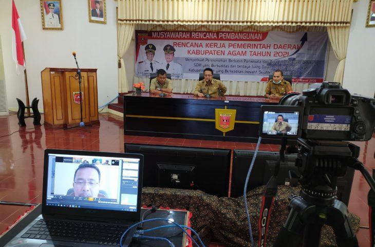 Ujicoba Sukses, Agam siap Gelar VCON Musrenbang RKPD 2021 Pertama Kali di Sumbar