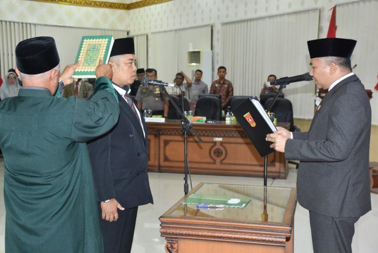 Pelantikan PAW, Budi Harto Resmi Jadi Anggota DPRD Agam