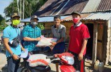 Nagari Persiapan Salareh Aia Timur Salurkan Bantuan Beras Gratis