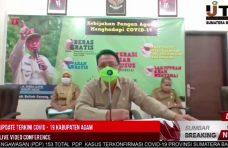 Konferensi Pers dengan IJTI Sumbar, Indra Catri Paparkan Kebijakan Pangan Agam Hadapi Covid-19