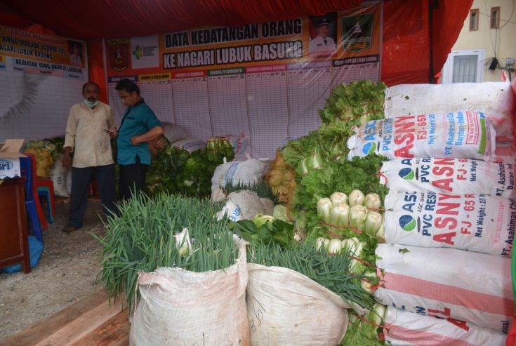#Agam Siaga Covid19, 6 Ton Sayuran Disalurkan