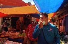 Ajak Pedagang dan Pembeli Lawan Covid-19, Camat Palembayan: Jangan Lama-lama di Pasar
