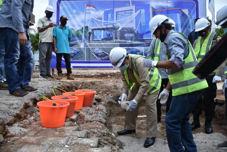 Bupati Agam Letakkan Batu Pertama Pembangunan Gedung Bank Nagari Lubuk Basung