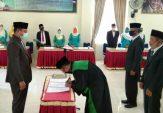 Protokol Kesehatan Diterapkan Saat Pelantikan Pj Wali Nagari di Palembayan