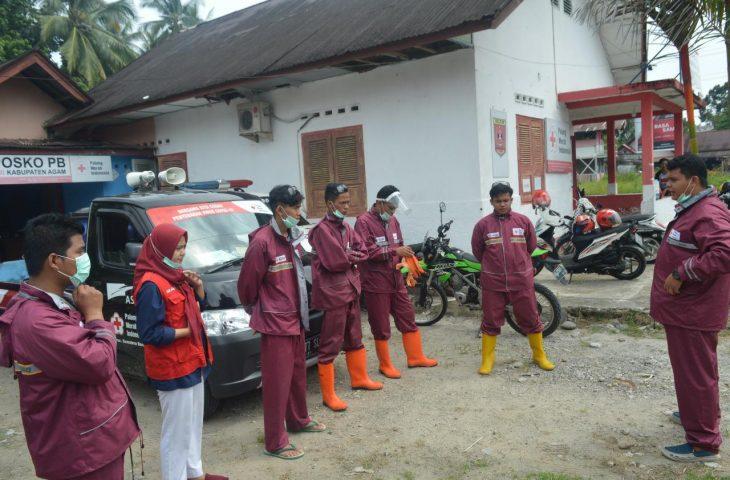 Aktif Lawan Corona, PMI Agam Sudah 1.962 Kali Semprotkan Disinfektan