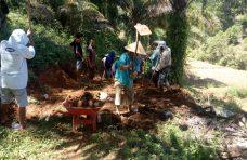 Masyarakat Gumarang Lanjutkan Goro Pembukaan Jalan Lingkar Usaha Tani