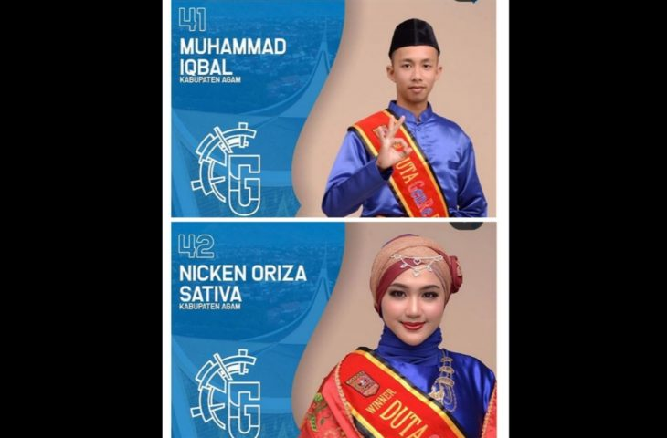 M. Iqbal dan Nicken Oriza Sativa Wakili Agam Pemilihan Duta GenRe Tingkat Sumbar