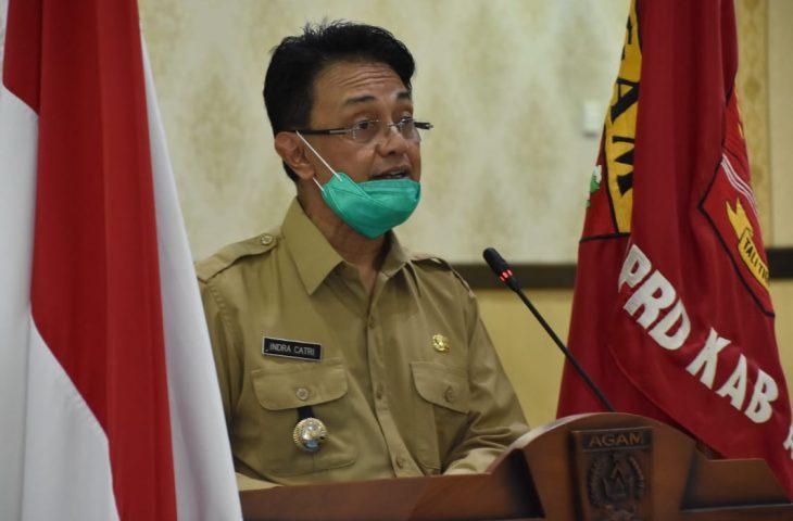 Bupati Agam Sampaikan Nota Penjelasan Ranperda Perubahan Perda Nomor 13 Tahun 2016