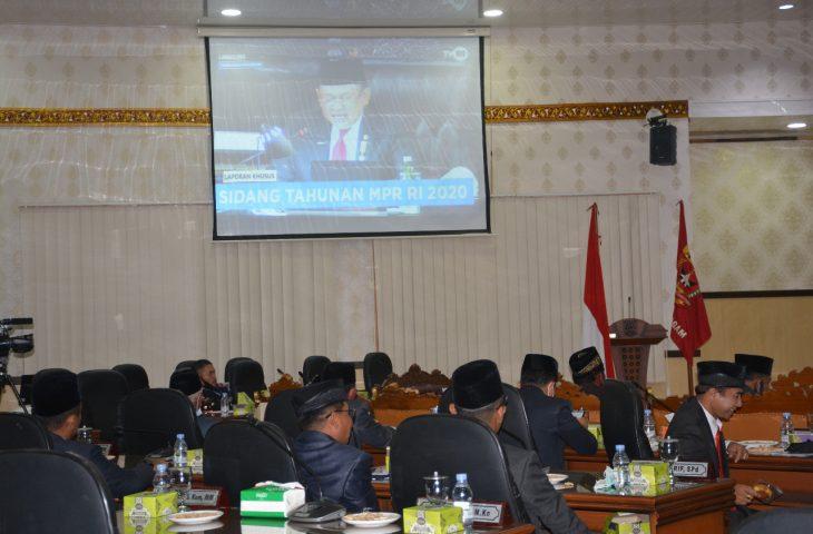 Wabup Agam Hadiri Rapat Paripurna Mendengarkan Pidato Kenegaraan
