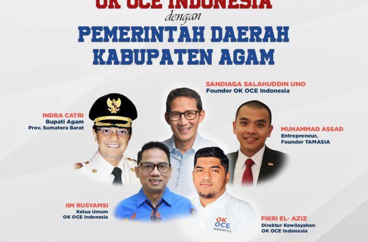 Sandiaga Uno Bakal Bawa Program OK OCE ke Kabupaten Agam