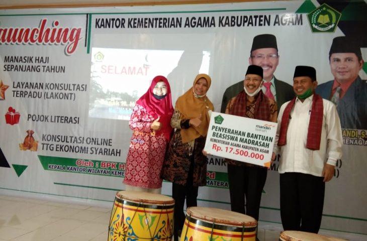 BSM Cabang Bukittinggi Salurkan Beasiswa Madrasah di Agam